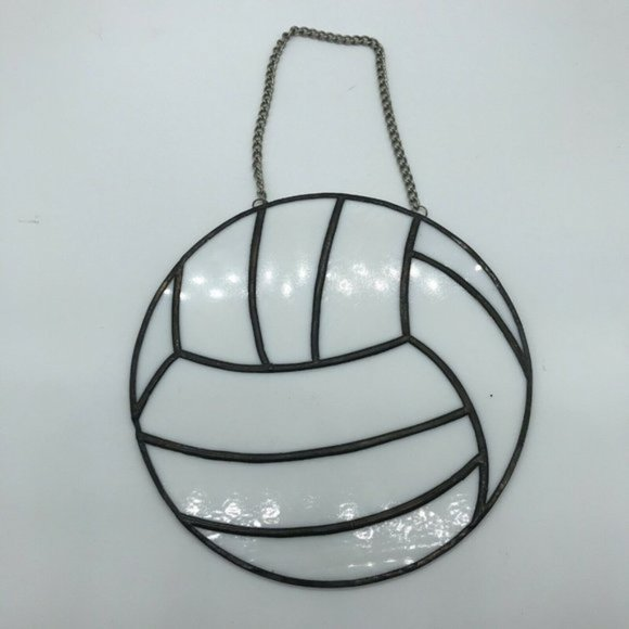 Stained Glass Volleyball Suncatcher